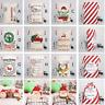 Large Canvas Merry Christmas Santa Sack Xmas Stocking Apple/Gift Storage Bag