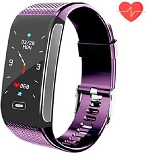Fitness tracker, activity tracking smart bracelet with heart rate sleep mo ...