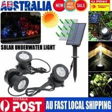 Solar Powered Underwater 18led Spot Light Outdoor Garden Yard Lawn Pond Lamp AU
