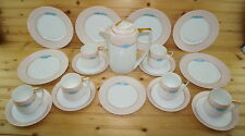 Rosenthal Donatello Chocolate Snack Set-21 Pieces -Pot w/Lid-Plates-Cups-Saucers