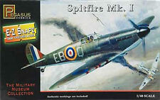 Pegasus Hobbies 1/48 Spitfire MK.1 Snap Together Plastic Model Kit 8410 Skill 1