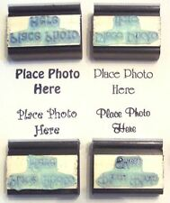 Place Photo Here Rubber Stamps set of 4 different fonts