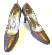 Vintage Saks Fifth Avenue Metallic Bronze High Heeled Shoes size 7
