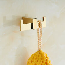 Wall Mounted Hook Hanger Bathroom Accessories Bath Hand Towel Holder Brass Gold