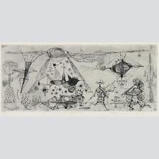 Heinz otterson: marcianos. maravillosa aguafuerte 1960.