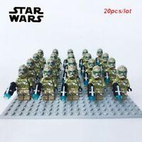 STAR WARS Clone Wars Custom 41st Kashyyyk Clone Trooper with Gun 20pcs/lot