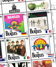 The Beatles - Worldwide LPs Tribute - Artistamps (Faux Postage, Mail-Art)