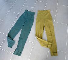Lot 2 VINTAGE ORIGINALE ROMEO GIGLI pantaloni _ trousers pants _ _ 40 & 42 IT _ GREEN _ 1990`s