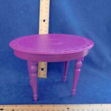 "Barbie Dining Room Table Oval Magenta OK 1:6 Furniture Bratz 11.5"" 2008 Floral"