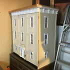 VINTAGE DOLLHOUSE...1940'S 50'S...OPENS FROM FRONT..3 FLOORS.. STAIRS..