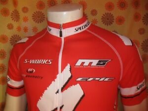 Ancien MAILLOT SPECIALIZED T4/L ROUGE Cycling Team Vélo Cyclisme Cyclo Cycliste