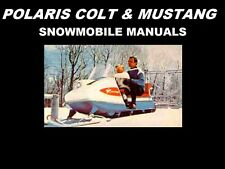 POLARIS COLT & MUSTANG PARTS MANUALs for 1966 1967 1968 1969 Snowmobile Service