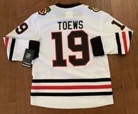 NHL Chicago Blackhawks  Toews  Hockey Jersey White Youth S/M