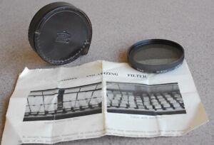RARE 1959 BRONZE Nikon 52mm POLAR Glass Filter manual Linear Polarizer