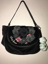 Juicy Couture Royal Botanical Velour Iris Bag (Black)