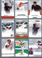 """CARLOS CORREA """"ULTIMATE"""" 2012 LEAF """"9"""" CARD ROOKIE CARD LOT! ROOKIE OF THE YEAR!"""