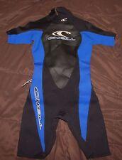 O'neill women's shorty spring wetsuit wet suit 2.1 mm size 8 black blue