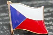 CZECH REPUBLIC CZECHIA Czech Metal Flag Lapel Pin Badge *NEW*