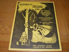 Big Brother Janis Joplin - Flyer Sokol Hall 25 Dec 1967 Christmas party invite