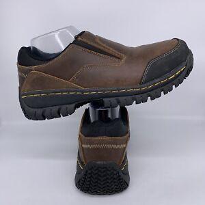 Skechers Hartan Slip On Work Shoe Steel Toe Slip Resistant Memory Foam Men 9 M