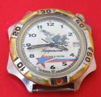 Vostok Komandirskie Generalskie officer army wrist watch mechanical crown at 2
