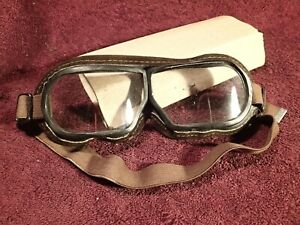 VINTAGE OLD GOGGLES EYGLASSES UNMARKED PROBABLY SOVIET RUSSIA RUSSIAN