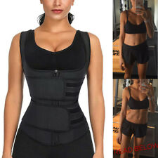 Women Waist Trainer Vest Trimmer Belt Body Shaper Slimming W Zipper Shapewear US