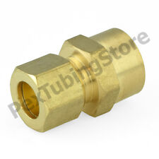 """3/8"""" OD x 1/2"""" Sweat Connector (Lead-Free) Brass Compression Adapter Fitting"""