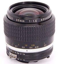 NIKKOR 35mm 1:1 .4 rápido! gran angular Nikon Ai-s Lente para Analógico & cámaras SLR digitales