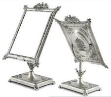 Antique Style Standing Mirror Table Pedestal Makeup Square Rectangle Zinc Vanity