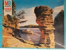 """Vtg MB Faces of America 2 Wisconsin Dells1000 Pieces jigsaw puzzle 1975 20""""x26"""""""