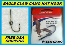 EAGLE CLAW CAMO HAT HOOK NEW! Hat Pin/Tie Clasp #155A-CAMO FISH HOOK HAT PIN