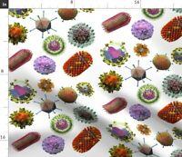 Viruses Biology Science Virus Microbes Disease Fabric Printed by Spoonflower BTY
