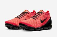 Nike Air VaporMax Flyknit 3 Running Shoes Flash Crimson Black AJ6900-608 Men's
