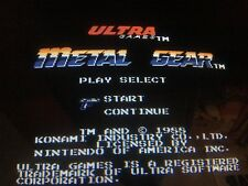 Nintendo Playchoice 10 Metal Gear Cart Pc-10