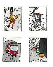 Herge Tintin Panini 1989 autocollant 4 im 183-184-185-186