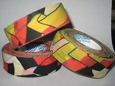 North American Tape  24 mm x 18 m, schwarz/rot/gelb Eishockey, Lacross, Baseball
