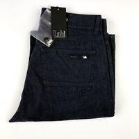 $220 Pal Zileri Lab Mens Navy Blue Soft Cotton Casual Chino Khaki Pants Sz 29x34