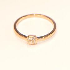 Diamantring 0,08 ct Roségold (750) Verlobungsring Brillant Karat Illusion Pavé