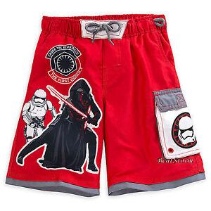 Star Wars The Force Awakens BOYS Swim Trunks Kylo Ren Stormtrooper Disney Store