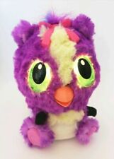 Hatchimals Hatchibabies Interactive Plush Toy Purple Pink Bow Battery Operated