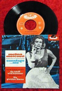 Single Melina Mercouri: Ein Schiff wird kommen (Polydor 24 353) D 1960