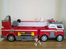 Paw patrol marshall Ultimate Rescue fire truck lights and sounds.