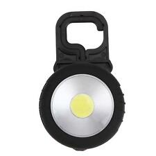 COB LED Magnetic Flashlight Bright Camping Pocket Lamp with Hook Battery Powered