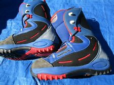 Salomon Synapse Men's Size 9.0 Snowboard Boots Very Nice Blue Red Black
