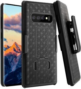 For Samsung Galaxy S10 Case Slim Belt Clip Kickstand Cover + Screen Protector