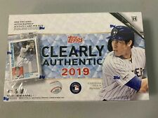 2019 Topps Clearly Authentic Baseball (10/09) Sealed Hobby Box 1 Encased AUTO