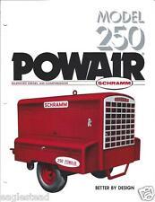 Equipment Brochure - Schramm - 250 - Powair - Air Compressor - c1979 (E2613)