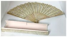 Antique ca 1890's French Lace and Mother of Pearl Fan