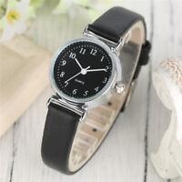 Elegant Leather Band Women Lady Business Quartz Wrist Watch Bracelet Gift